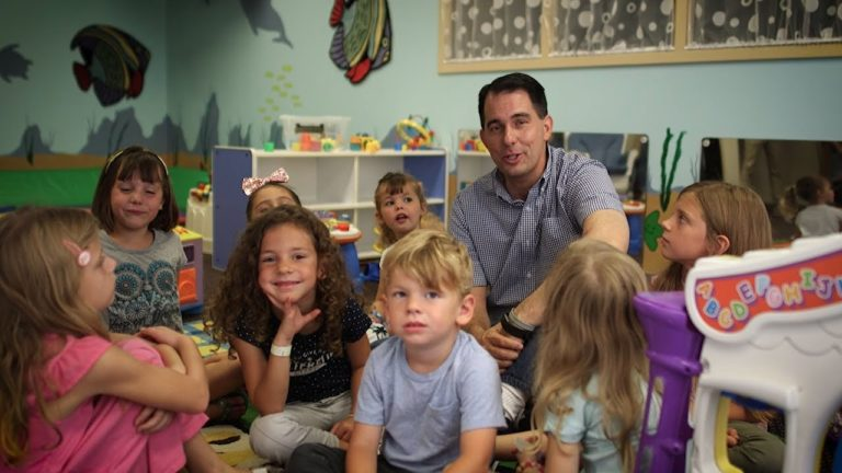 Walker touts proposed childcare tax credit