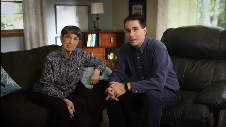Walker's mom says he's 'really doing a good job' in guv's latest TV ad